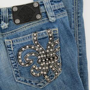 Miss Me | Fleur de Lis Embellished Skinny Jeans A6